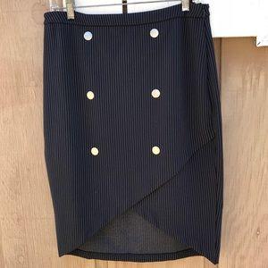 CATO asymmetrical hem pencil skirt